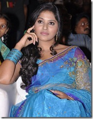 Actress Anjali in Saree Photos at SVSC Audio Launch