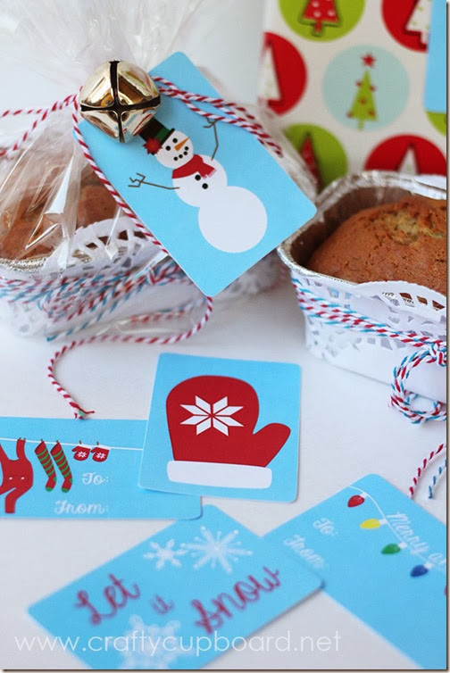 Snow Day Printable Gift Tags by The Crafty Cupboard