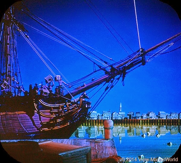 View-Master The Revolutionary War B810 Scene A1 The Boston Tea Party 1773