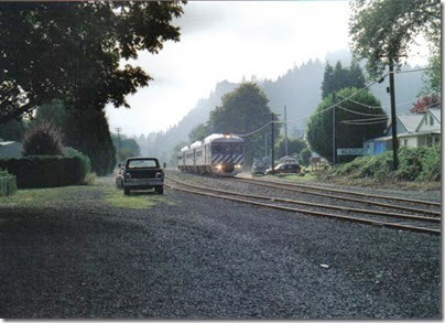 Lewis & Clark Explorer passing through Westport, Oregon on September 24, 2005