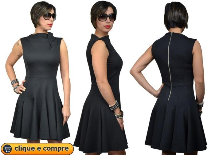 vestido gola escafandro moda de novela estilo priscila - 07