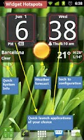 Screenshot of FlipClock BlackOut Widget 4x2