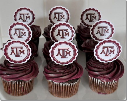 TEXAS A&amp;M CUPCAKE TOPPERS (3)