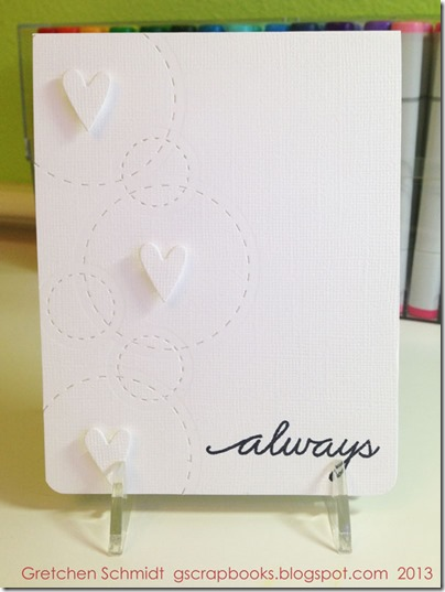 Always Love card with NEW Stitched Circle and Labels Framelits by @gscrapbooks