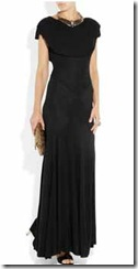 Long black jersey gown
