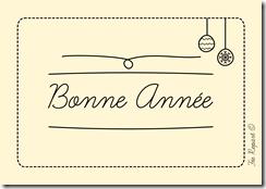 Carte bonne année style doodle à télécharger