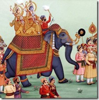 Rama and Lakshmana in the wedding procession