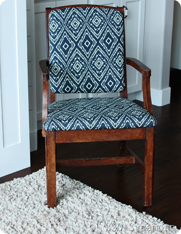 Merveilleux Chair After New Fabric