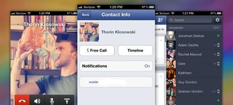 Facebook para iOS incluye soporte para llamadas gratuitas