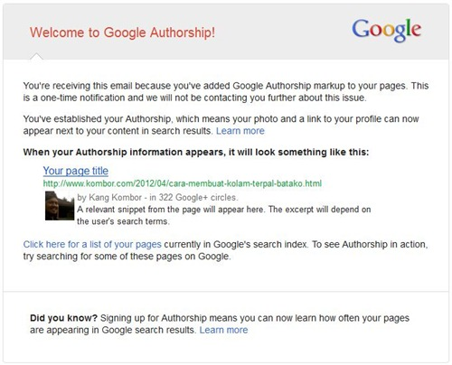 welcome to google authorship