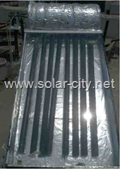 homemade solar water heater - solar collector - glass