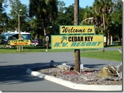 Entry at Cedar Key RV Resort