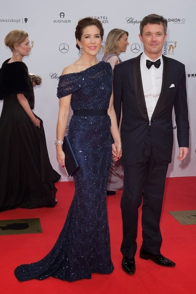 Frederik Crown Prince of Denmark and Mary Crown Princess of Denmark attend the Bambi Awards 2014