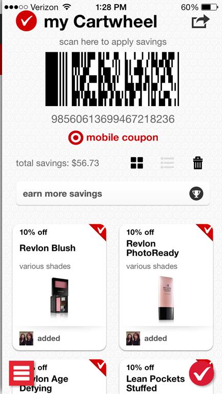 Target Cartwheel iPhone App