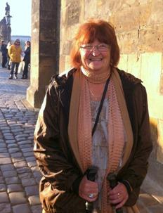 at the Charles Bridge in Prague