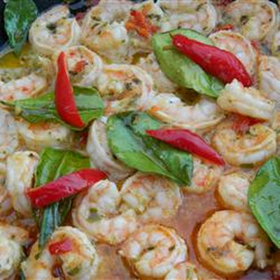 Grilled Prawns with Garlic-Chili Sauce