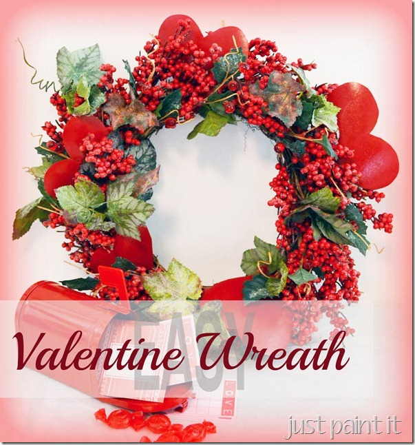 An Easy Valentine Wreath