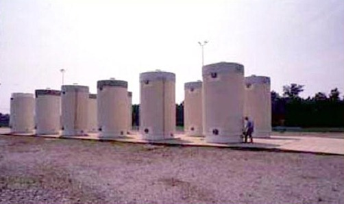 Dry cask storage of high level waste