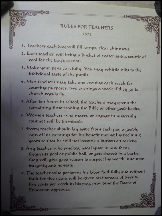 Beckley Exhibition Coal Mine WV- Teachers Rules