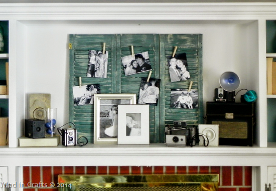 vintage photo mantel