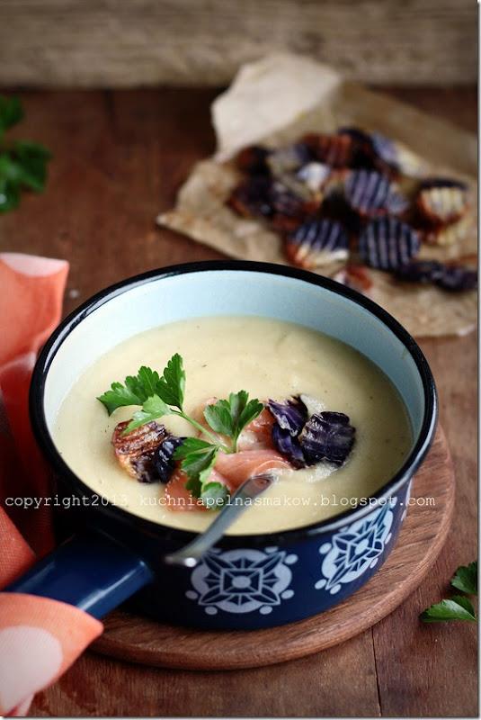 Zupa pasternakowo-pietruszkowa z jabłkiem i... łososiem (4)