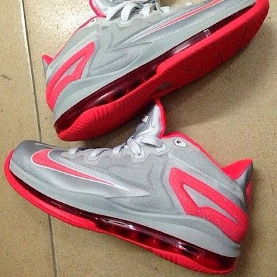 2013 lebron11 low grey Preview of New Nike LeBron XI Styles: Black/Blue & Grey/Crimson