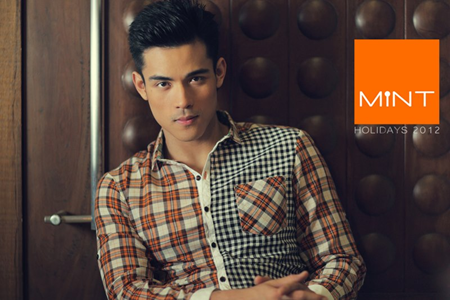 Xian Lim in Mint Holiday 2012 ad campaign
