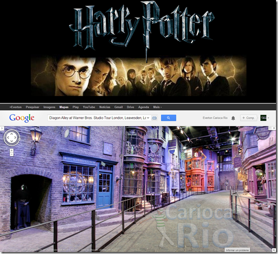 Diagon Alley at Warner Bros. Studio Tour London, Leavesden, Londres, Reino Unido.fw