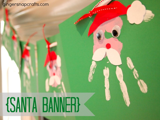 Santa Banner {kid craft}