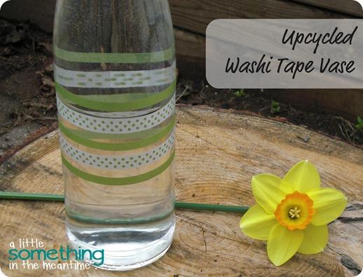 Washi Tape Vase Banner