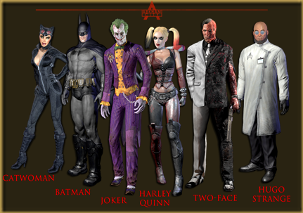 Batman Arkham City -  Personagens