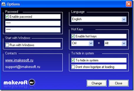 USB Manager Opzioni