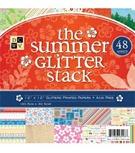 summer glitter stack