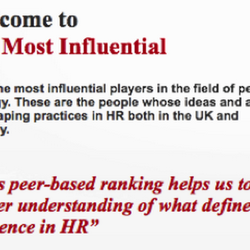 HR Most Influential 2013