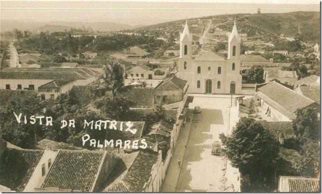 Vista frontal da Igreja Matriz de N. Sra da Conceição dos Montes