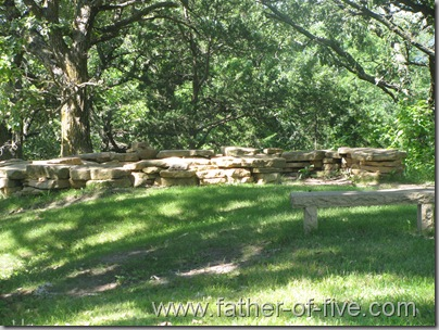 Ney Nature Center - The flagstone ring at the scenic overlook