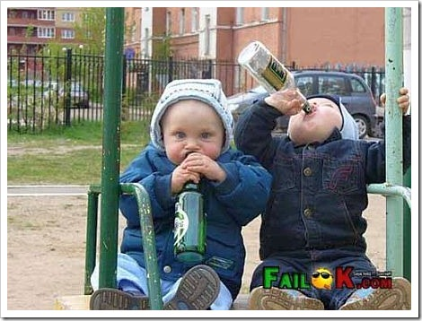 Funny Fail - Kids are Drinking Buddies.