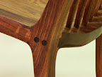 Detail shot of Maloof style joinery