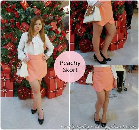 Peachy Skort
