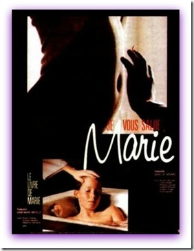 Imagem da propaganda do Filme JE VOUS SALUE MARIE, de 1985  direção de JEAN-LUC GODARD