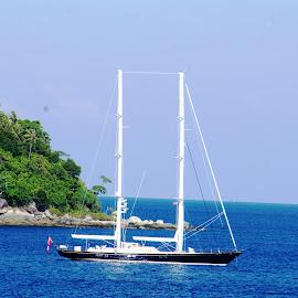 SY Asia by Ilse Gibson - Transportation Boats ( sailing boat, sailing yacht, superyacht, luxury yacht, thailand, phuket )