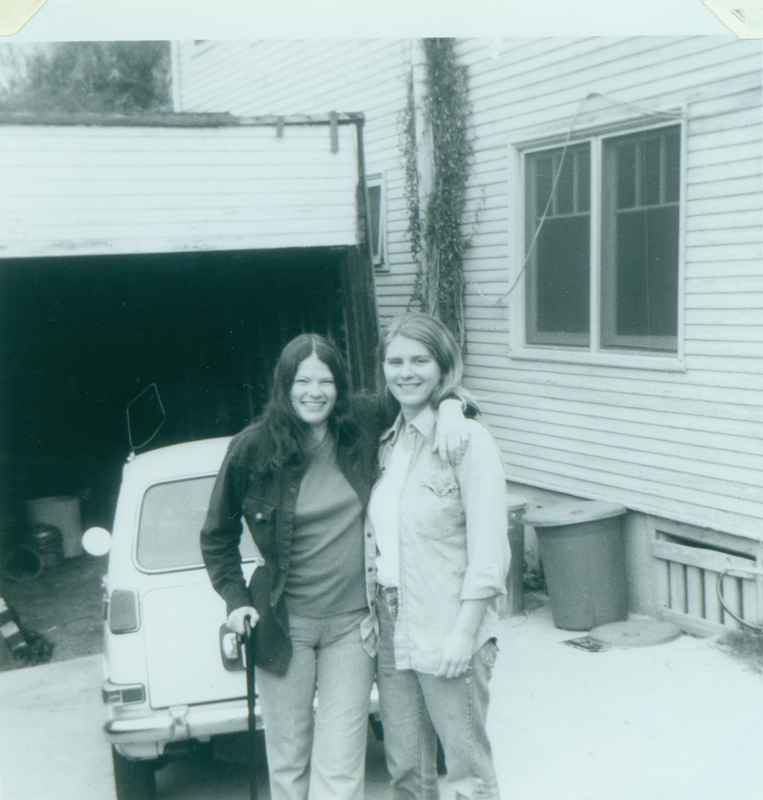 Carolyn Weathers and Denise Crippen at Morton Avenue. Circa October 1975.