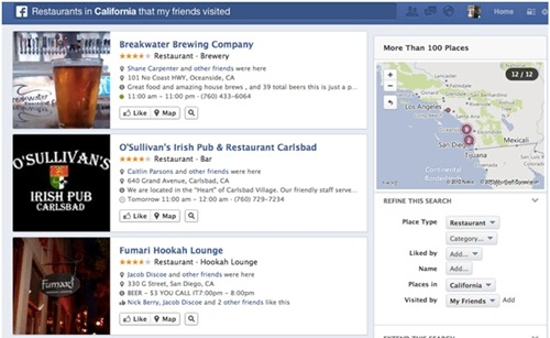 facebook graph search benefits to bloggers