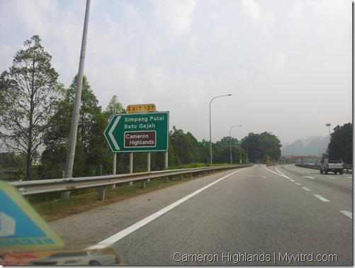 exit Simpang Pulai Cameron Highlands
