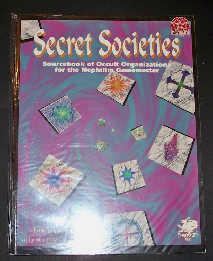 NEPHILIM: SECRET SOCIETIES  di Kenneth Hite (Chaosiu, brossuato di oltre 100 pagine), le societ segrete del mondo di Nephilim, dagli Illuminati di Baviera ai cavalieri di Rodi, dai Rosacroce alla Thule Brudenschaft, dettagliate una per una