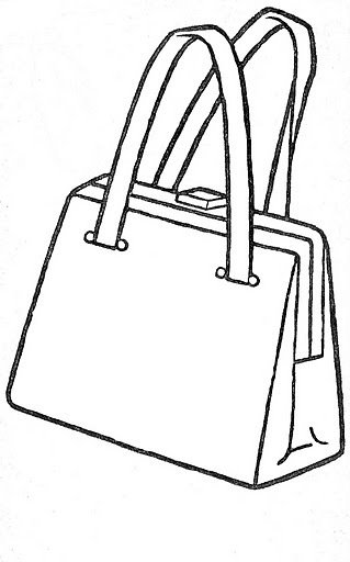 Colorear dibujos de bolsos - Bolsas para pintar ...