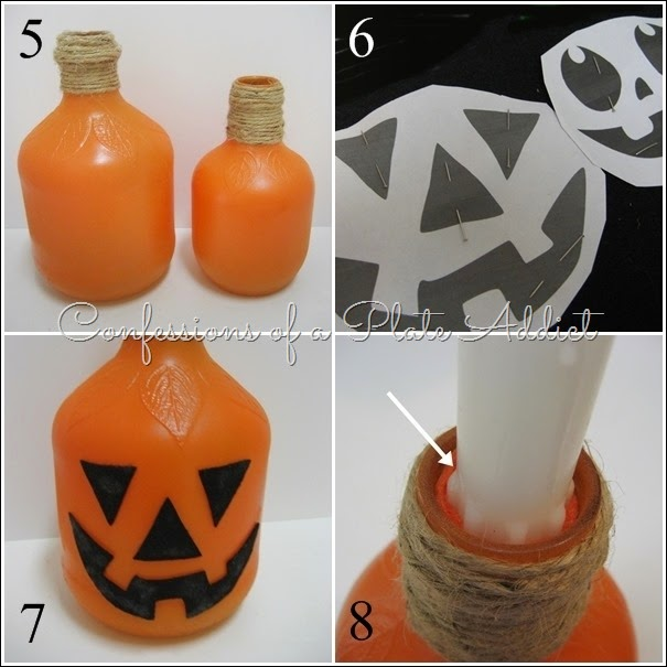 CONFESSIONS OF A PLATE ADDICT Country Living Inspired Jack-o'-Lantern Candlesticks tutorial 2