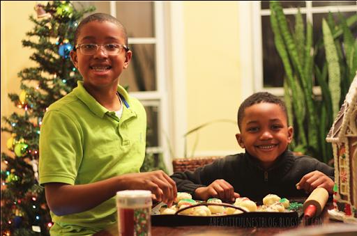 Christmas Cookies for santa boys smiling 2014 150