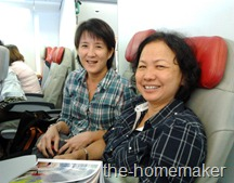 On board the Plane - Fiona & Adeline