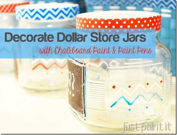 decorate jars with paint